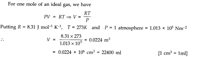 NCERT Solutions for Class 11 Physics Chapter 13 Kinetic Theory Q2