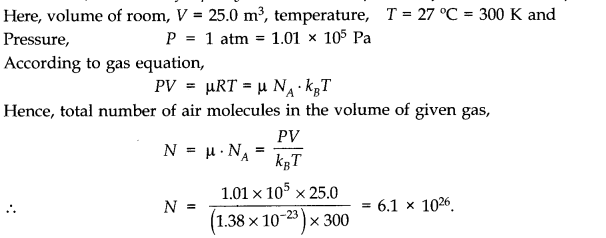 NCERT Solutions for Class 11 Physics Chapter 13 Kinetic Theory Q6