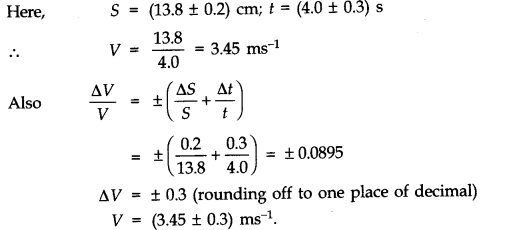 NCERT Solutions for Class 11 Physics Chapter 2 Units and Measurements Extra Questions SAQ Q1