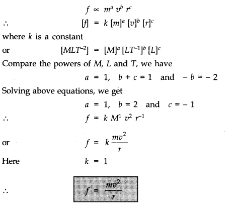 NCERT Solutions for Class 11 Physics Chapter 2 Units and Measurements Extra Questions SAQ Q11