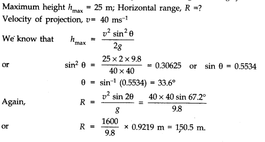 NCERT Solutions for Class 11 Physics Chapter 4 Motion in a Plane Q15
