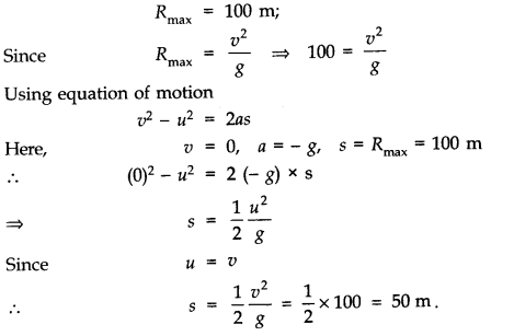 NCERT Solutions for Class 11 Physics Chapter 4 Motion in a Plane Q16
