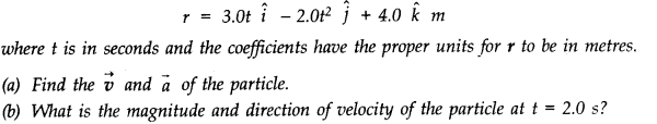 NCERT Solutions for Class 11 Physics Chapter 4 Motion in a Plane Q20