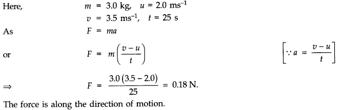 NCERT Solutions for Class 11 Physics Chapter 5 Laws of Motion Q6