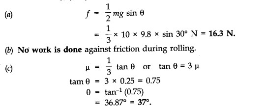 NCERT Solutions for Class 11 Physics Chapter 7 System of Particles and Rotational Motion Q31