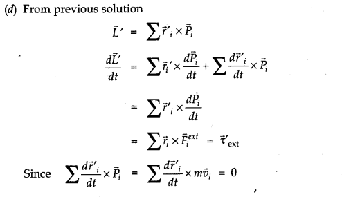 NCERT Solutions for Class 11 Physics Chapter 7 System of Particles and Rotational Motion Q33.4