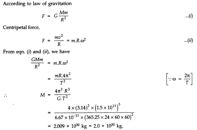 NCERT Solutions for Class 11 Physics Chapter 8 Gravitation Q13