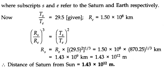 NCERT Solutions for Class 11 Physics Chapter 8 Gravitation Q14.1