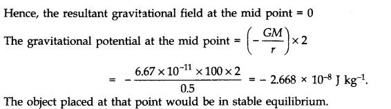 NCERT Solutions for Class 11 Physics Chapter 8 Gravitation Q21
