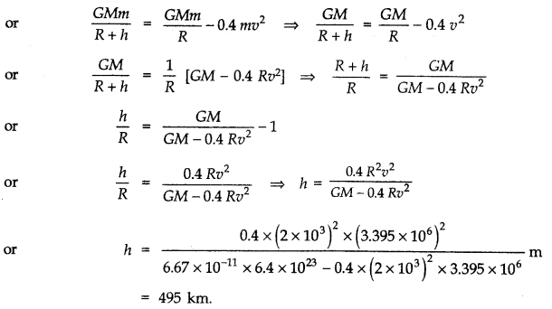 NCERT Solutions for Class 11 Physics Chapter 8 Gravitation Q25.1