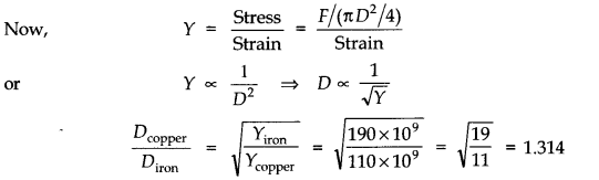 NCERT Solutions for Class 11 Physics Chapter 9 Mechanical Properties of Solids Q10