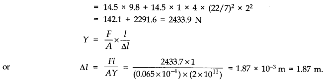 NCERT Solutions for Class 11 Physics Chapter 9 Mechanical Properties of Solids Q11