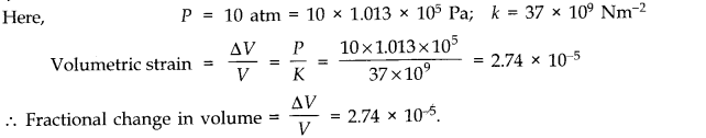 NCERT Solutions for Class 11 Physics Chapter 9 Mechanical Properties of Solids Q14