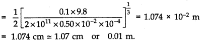 NCERT Solutions for Class 11 Physics Chapter 9 Mechanical Properties of Solids Q19.1