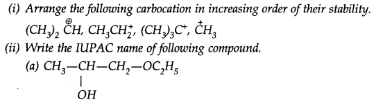 NCERT Solutions for Class 11th Chemistry Chapter 12 Organic Chemistry Some Basic Principles and Techniques SAQ Q10