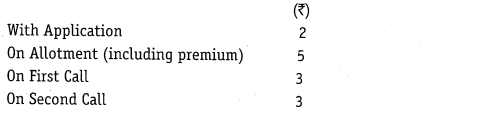 NCERT Solutions for Class 12 Accountancy Part II Chapter 1 Accounting for Share Capital Numerical Questions Q16