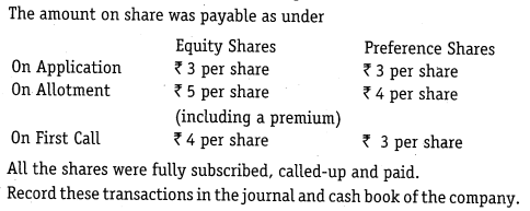 NCERT Solutions for Class 12 Accountancy Part II Chapter 1 Accounting for Share Capital Numerical Questions Q6