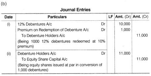 NCERT Solutions for Class 12 Accountancy Part II Chapter 2 Issue and Redemption of Debentures Do it Yourself VI Q4.1
