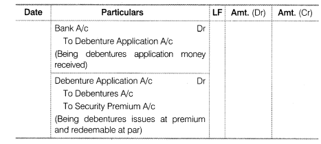 NCERT Solutions for Class 12 Accountancy Part II Chapter 2 Issue and Redemption of Debentures LAQ Q5.1