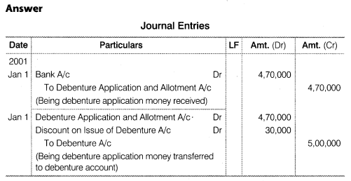 NCERT Solutions for Class 12 Accountancy Part II Chapter 2 Issue and Redemption of Debentures Numerical Questions Q16