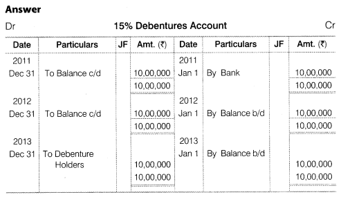 NCERT Solutions for Class 12 Accountancy Part II Chapter 2 Issue and Redemption of Debentures Numerical Questions Q22