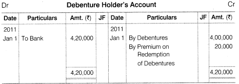NCERT Solutions for Class 12 Accountancy Part II Chapter 2 Issue and Redemption of Debentures Numerical Questions Q24.6